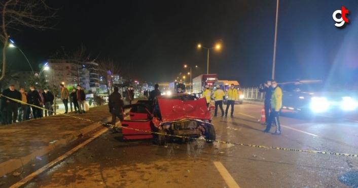 Giresun'da iki otomobil çarpıştı: 1 ölü, 4 yaralı