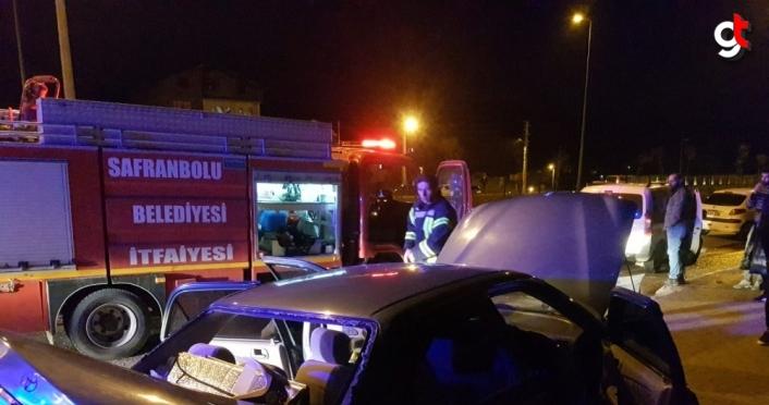 Karabük'te iki ayrı trafik kazasında 7 kişi yaralandı