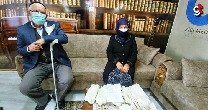 Ordu'da 87 yaşındaki Şahinde nine, ördüğü çorapları Mehmetçiğe gönderdi