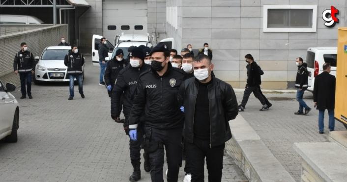 Samsun merkezli organize suç örgütü operasyonunda gözaltına alınan 39 şüpheli adliyede