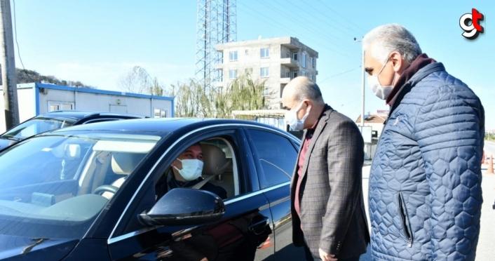Samsun Valisi Zülkif Dağlı sokağa çıkma kısıtlaması denetimlerine katıldı