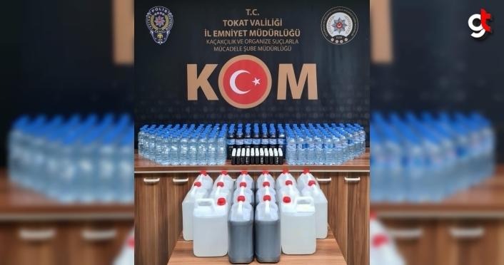 Tokat'ta 250 litre sahte içki ele geçirildi, 8 kişi gözaltına alındı