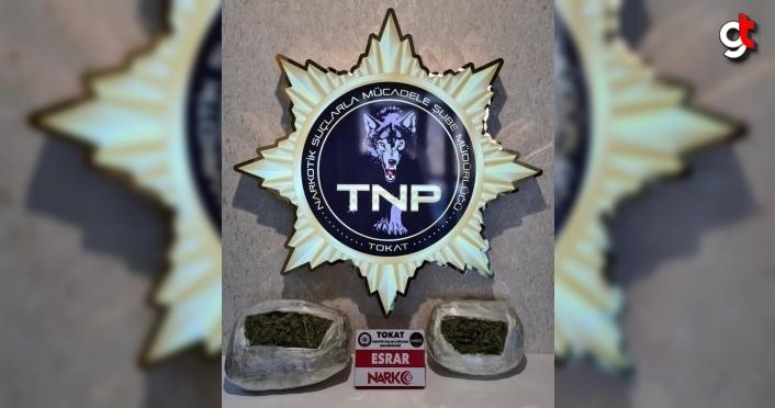 Tokat'ta valizinden 3 kilo 273 gram esrar çıkan şüpheli tutuklandı