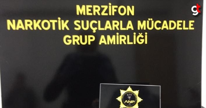 Amasya'da araçlarında uyuşturucu bulunan iki kişi gözaltına alındı