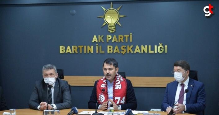 Bakan Kurum, Bartın'da yürütülen projeleri anlattı: