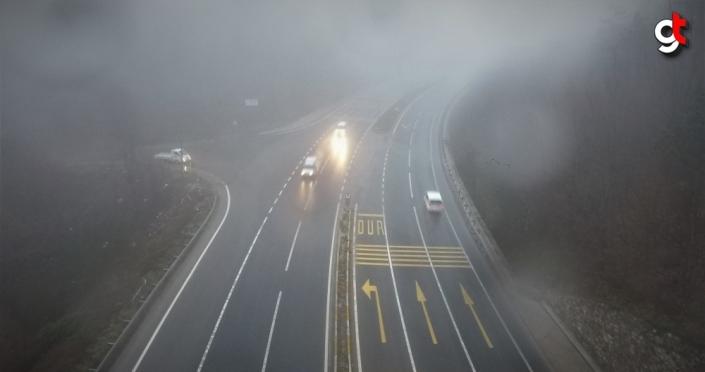 Batı Karadeniz'de sis ve yağış etkili oluyor