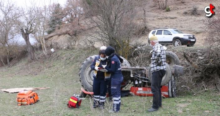 Bolu'da devrilen traktörün altında kalan sürücü yaşamını yitirdi