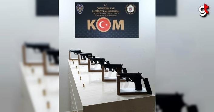 Çorum'da silah kaçakçılığı iddiasıyla 3 şüpheli tutuklandı