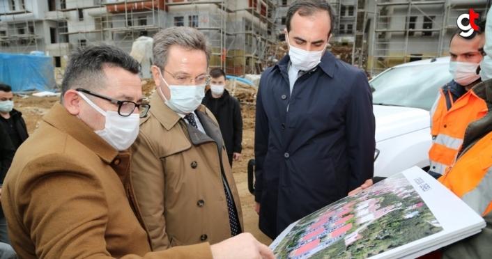 Giresun Valisi Ünlü, sel afetinin yaşandığı Dereli'de incelemelerde bulundu