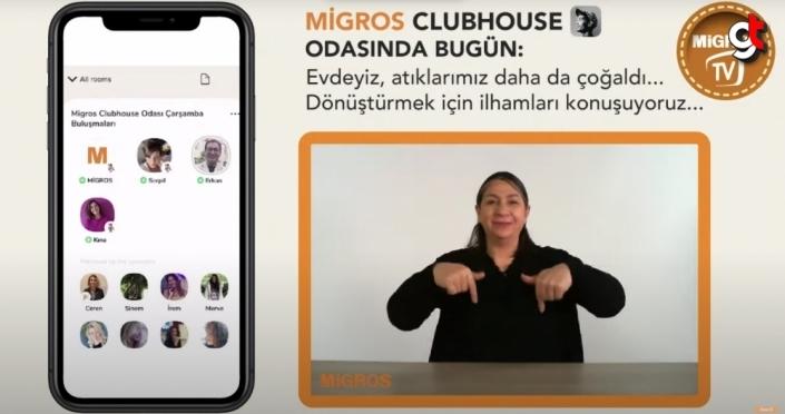 Migros, Clubhouse'u işitme engelli müşterilerinin kullanımına açtı