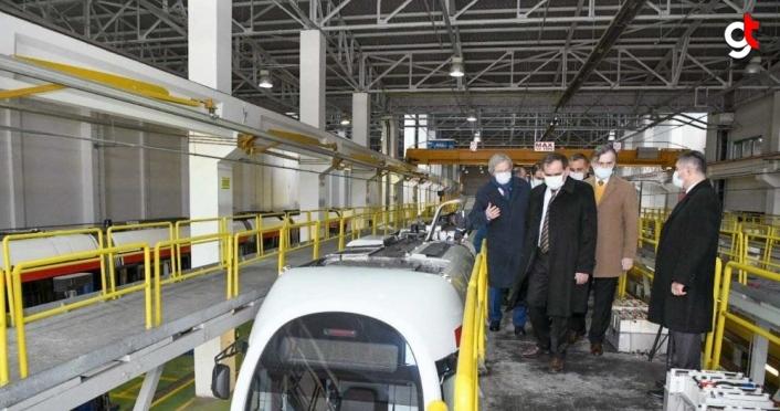 Samsun Büyükşehir Belediyesi tramvaylarda yerli akü kullanımına başladı