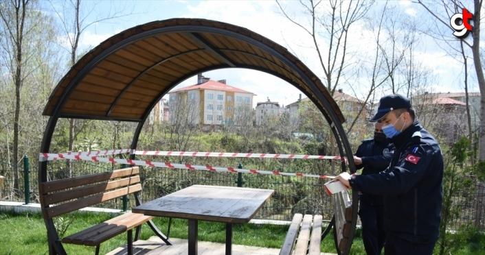 Bartın'da piknik alanları ile parklar koronavirüs tedbirleri kapsamında geçici olarak kapatıldı