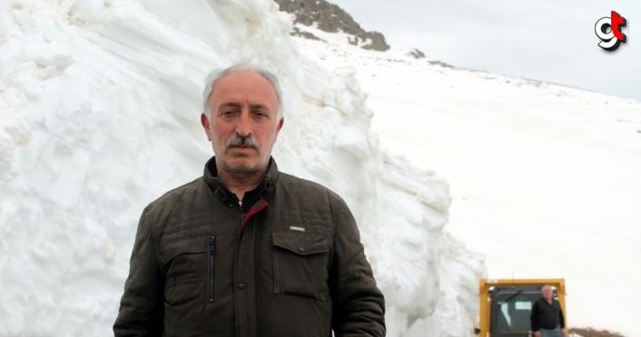 Bayburt'ta karla mücadele baharda da devam ediyor