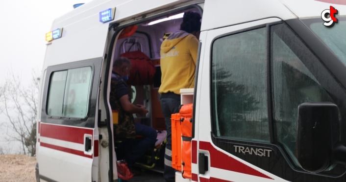 Bolu'da bariyerlere çarpan tırın sürücüsü yaralandı