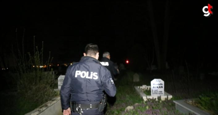 Bolu'da polis 1 saat boyunca mezarların arasında intihar etmek istediği iddia edilen kişiyi aradı