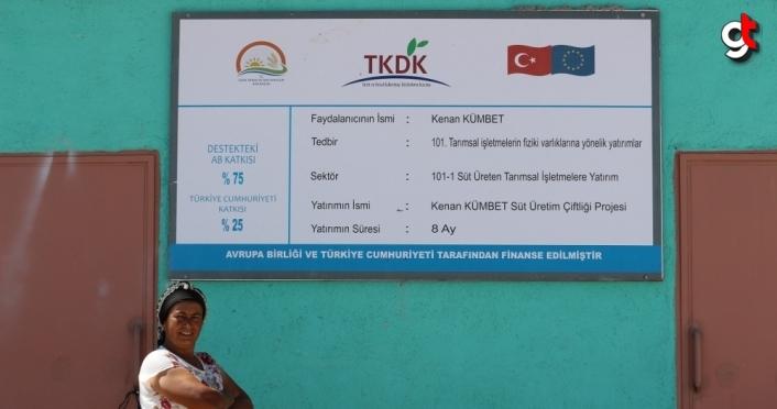 Çorum'da kadın çiftçi, vefat eden eşinin TKDK hibesiyle kurduğu tesisi daha da büyüttü