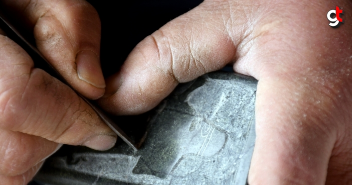 Dağlardan çıkartılan taşlar usta ellerde Hitit figürlerine dönüşüyor