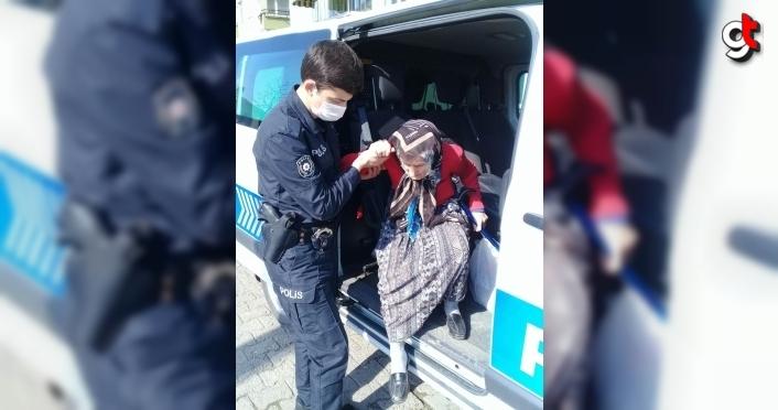 Düzce'de kaybolan yaşlı kadın polis ekiplerince bulundu