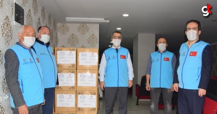 Espiye ilçesinde 241 aileye gıda paketi ulaştırıldı