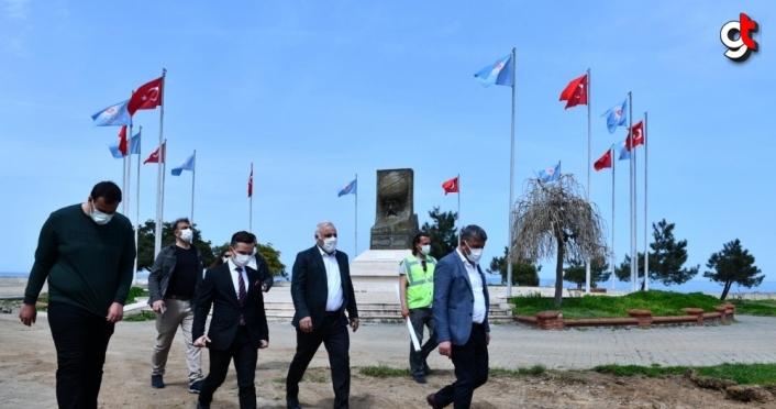 Ganita-Faroz Sahil Bandı Düzenlemesi Kentsel Tasarım Projesinin çalışmaları başladı