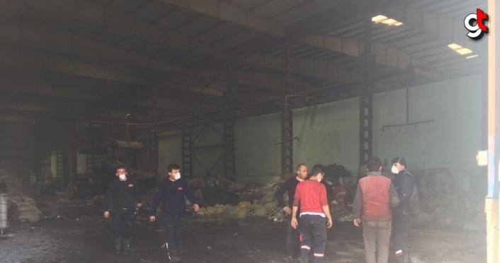 Gerede'de çıkan yangında yaralanan kişi hastaneye kaldırıldı