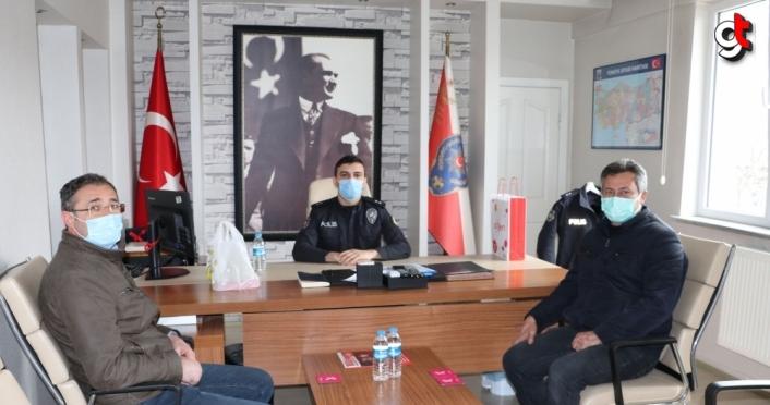 Havza'da esnaf odalarından Emniyet Müdürlüğüne ziyaret