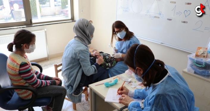 Havza'da özel öğrencilere yönelik diş taraması yapıldı