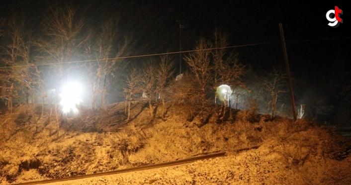 Karabük'ün yüksek kesimlerinde kar yağışı etkili oluyor