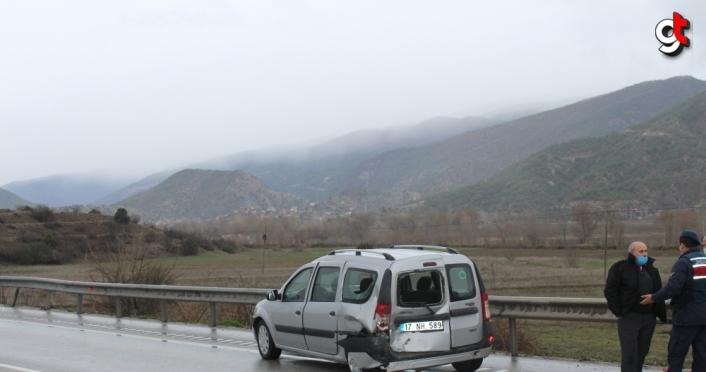 Kastamonu'da 7 aracın karıştığı trafik kazasında 1 kişi yaralandı
