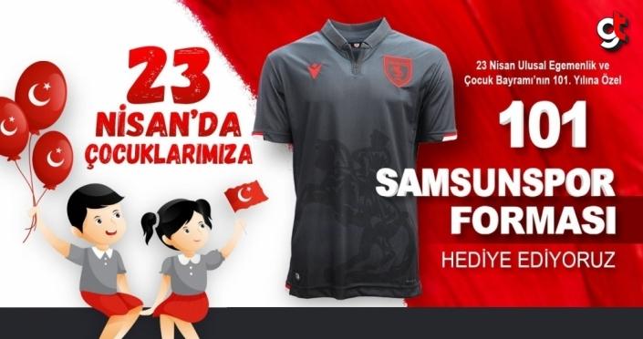 Samsun Büyükşehir Belediyesi 101 çocuğa Samsunspor forması dağıttı