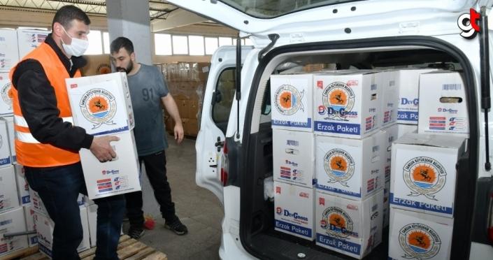 Samsun Büyükşehir Belediyesinden 15 bin aileye gıda yardımı