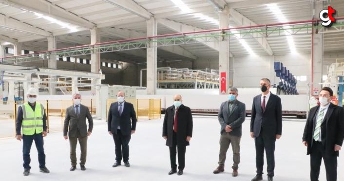 Samsun'a 90 milyon lira yatırımla gaz beton fabrikası kuruldu