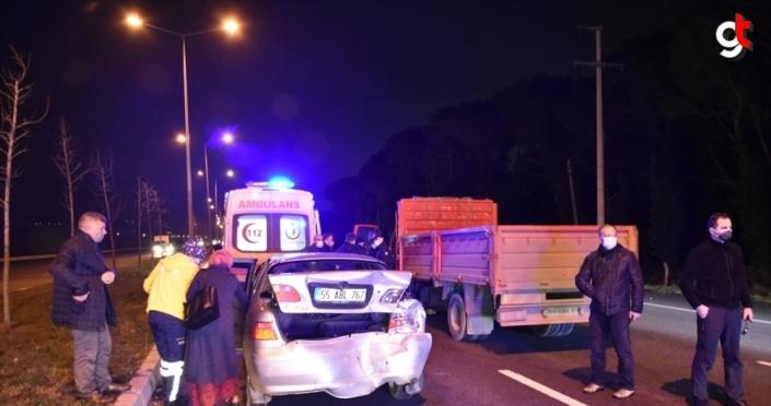 Samsun'da 3 aracın karıştığı trafik kazasında aralarında bir hakimin de bulunduğu 4 kişi yaralandı