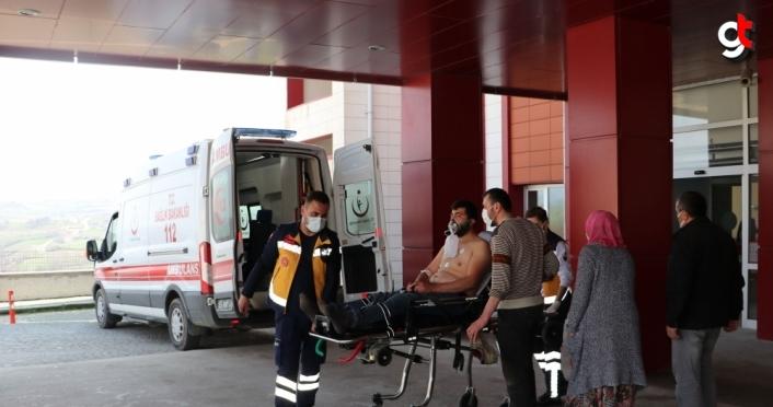 Samsun'da av tüfeğiyle yaralanan kişi hastaneye kaldırıldı