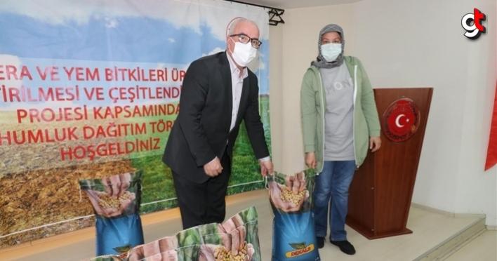 Tekkeköy'de çifçilere tohum dağıtımı