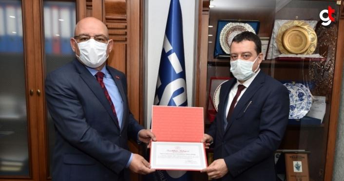 Trabzon Sağlık Müdürlüğünden TESOB'a teşekkür belgesi