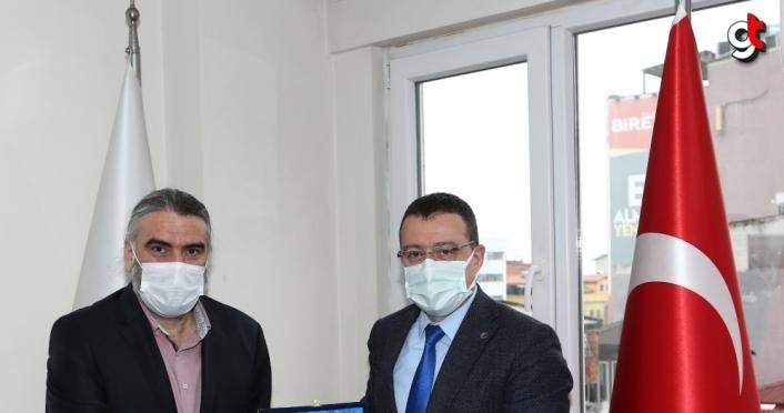 Trabzon Sağlık Müdürü Usta'dan, AA Trabzon Bölge Müdürlüğü'ne ziyaret