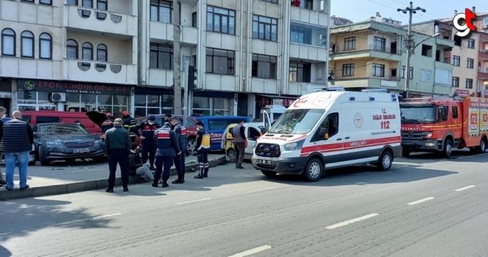 Trabzon'da direksiyon başında kalp krizi geçiren sürücü öldü