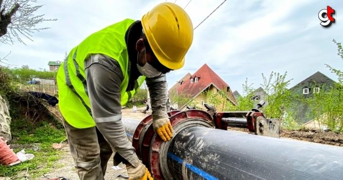Trabzon'da Karakaya Grubu İlave İçme Suyu Hattı inşaatı sürüyor