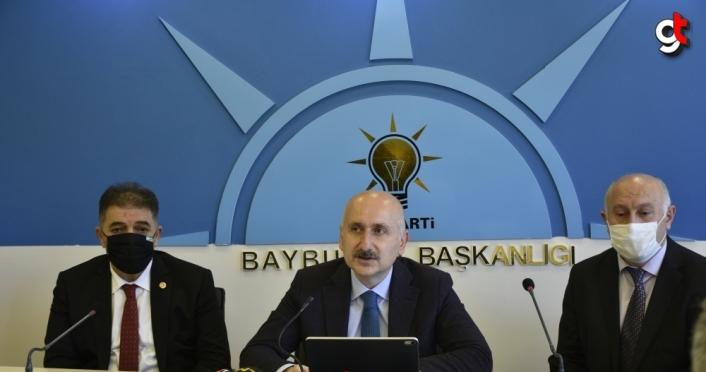 Ulaştırma ve Altyapı Bakanı Karaismailoğlu, AK Parti Bayburt İl Başkanlığında konuştu: