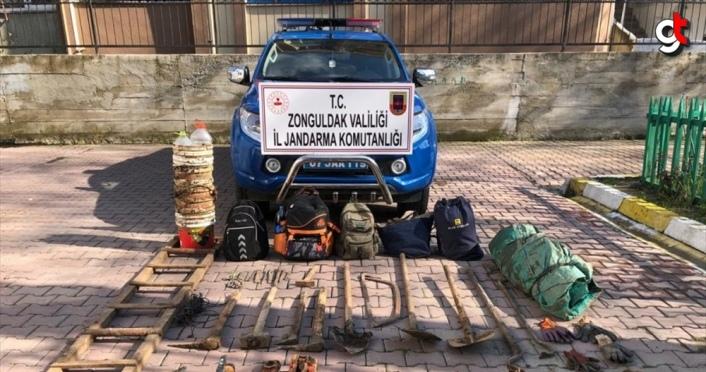 Zonguldak'ta kaçak kazı yapan 6 kişi yakalandı