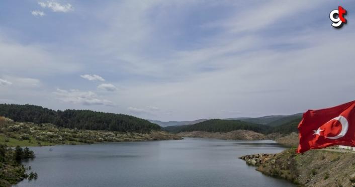10 bin 630 dekar tarım arazisin sulanacağı Hasanlı Göleti'nde çalışmalar sürüyor