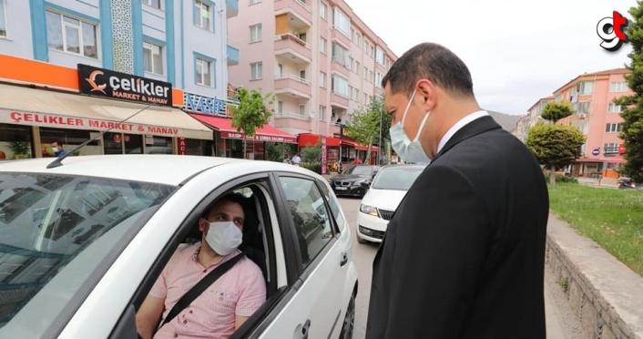 Amasya Valisi Mustafa Masatlı, tam kapanma tedbirlerini denetledi