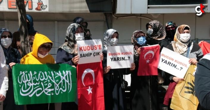 Ereğli'de İsrail'in Mescid-i Aksa'ya yönelik saldırıları protesto edildi