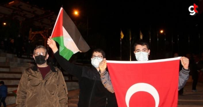 İsrail'in Mescid-i Aksa saldırıları Çorum, Kastamonu, Çankırı ve Amasya'da protesto edildi