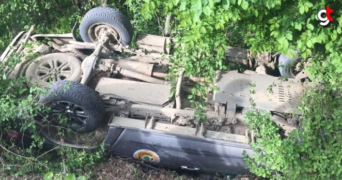 Karabük'te devrilen kamyonetteki 5 orman çalışanı yaralandı