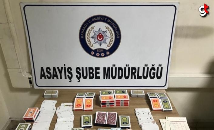 Karabük'te kumar oynayan ve Kovid-19 tedbirlerini ihlal eden kişilere para cezası