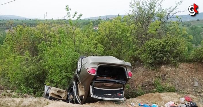 Samsun'da otomobil şarampole devrildi: 4 yaralı