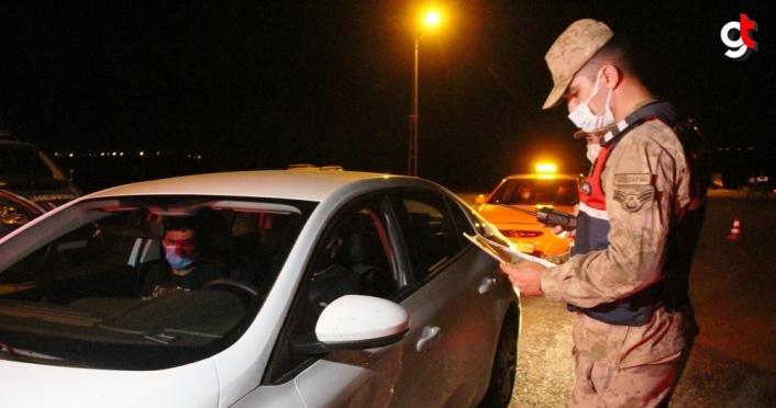 Taşova'da jandarma ekipleri denetimlerini sürdürüyor