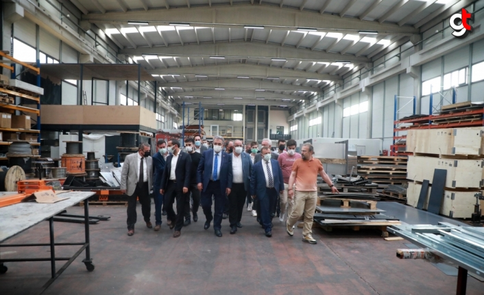 AK Parti Genel Başkan Yardımcısı Yazıcı, Rize Organize Sanayi Bölgesi'nde incelemelerde bulundu